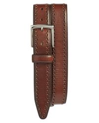 Johnston & Murphy | Brown Perforated Leather Belt for Men | Lyst