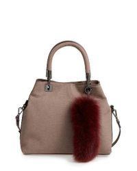 Vince Camuto | Brown Elva Leather Satchel | Lyst