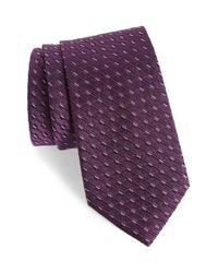 Calibrate | Purple Railroad Stripe Silk Tie for Men | Lyst
