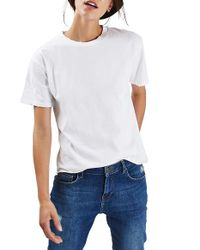 TOPSHOP | White Distressed Edge Tee | Lyst
