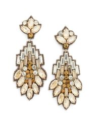 Suzanna Dai | Metallic 'vietri' Large Drop Earrings | Lyst