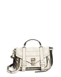 Proenza Schouler Multicolor Tiny Ps1 Paper Leather Satchel