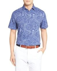 Peter Millar | Blue Crown Polo for Men | Lyst