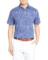 Peter Millar   Blue Crown Polo for Men   Lyst