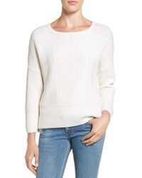 Rag & Bone | White 'dee' Merino Wool High/low Sweater | Lyst