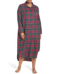 Lauren by Ralph Lauren Red Plaid Woven Nightgown