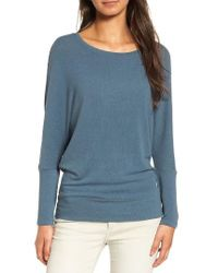 Cupcakes And Cashmere | Blue 'chey' Dolman Sleeve Top | Lyst