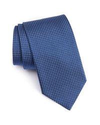 Eton of Sweden | Blue Microdot Silk Tie for Men | Lyst