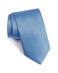 Eton of Sweden | Blue Herringbone Textured Silk Tie for Men | Lyst