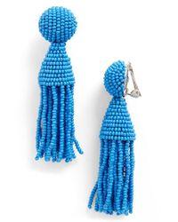Oscar de la Renta   Multicolor 'classic Short' Tassel Drop Earrings   Lyst