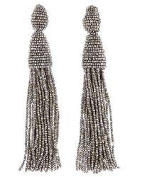Oscar de la Renta   Multicolor Long Tassel Drop Earrings   Lyst