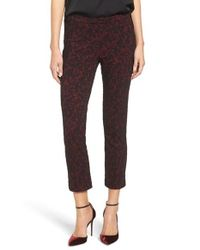 MICHAEL Michael Kors - Multicolor Umbria Lace Jacquard Crop Cigarette Pants - Lyst