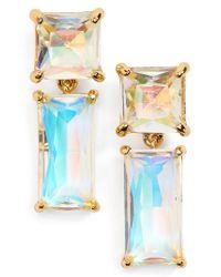 kate spade new york | Blue Baguette Crystal Drop Earrings | Lyst