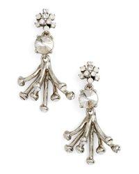 Oscar de la Renta | Metallic 'galaxy Coral' Drop Earrings | Lyst