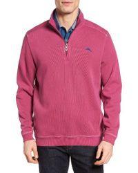 Tommy Bahama | Purple Nassau Quarter Zip Pullover for Men | Lyst