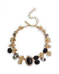 Oscar de la Renta | Metallic Crystal Collar Necklace | Lyst