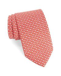 Ferragamo   Red Alternating Flowers Silk Tie for Men   Lyst