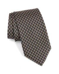 Ferragamo | Yellow Abstract Snail Print Silk Tie for Men | Lyst
