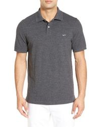 Vineyard Vines | Gray Classic Fit Heathered Pique Polo for Men | Lyst
