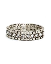 Loren Hope | Metallic 'carly' Crystal & Chain Bracelet | Lyst