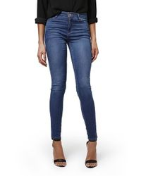 TOPSHOP | Blue 'leigh' Ankle Skinny Jeans | Lyst