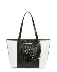 Brahmin | Black Medium Crane Asher Leather Tote | Lyst