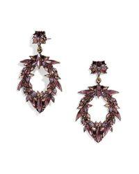 BaubleBar | Purple 'nevaeh' Crystal Drop Earrings | Lyst