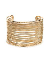 Panacea - Metallic Chain Cuff - Lyst
