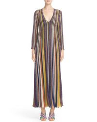Missoni Multicolor Metallic Stripe Gown