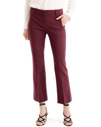 J.Crew - Red 'teddie' Bi-stretch Cotton Blend Pants - Lyst