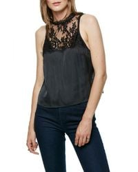 Free People | Black Tied To You Camisole | Lyst