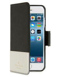 Kate Spade   Black Cedar Street Iphone 7 Folio Case   Lyst