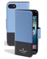 kate spade new york | Blue Cedar Street Iphone 7 Folio Case | Lyst