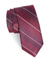 Calibrate | Purple Stripe Silk Tie for Men | Lyst
