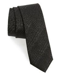 Calibrate   Black Stripe Silk Blend Tie for Men   Lyst