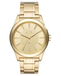 Armani Exchange | Metallic Nico Gold Watch | Lyst