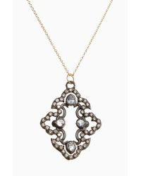 Armenta | Black Old World Diamond Scroll Pendant Necklace | Lyst