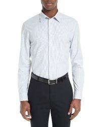 Armani | White Micro Print Sport Shirt for Men | Lyst