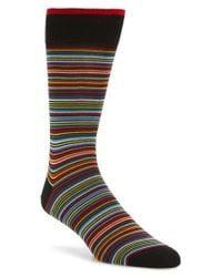 Bugatchi | Black Multi Stripe Socks for Men | Lyst