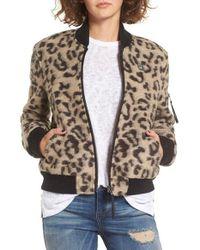 Obey Multicolor Karina Wool Bomber Jacket