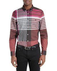 Burberry | Blue Brookhouse Slim Fit Sport Shirt for Men | Lyst