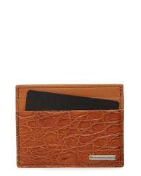 Ermenegildo Zegna | Brown Milano Leather Card Case for Men | Lyst