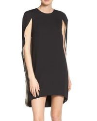 Halston | Black Cape Dress | Lyst