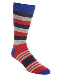 Ted Baker | Red Stripe Socks for Men | Lyst