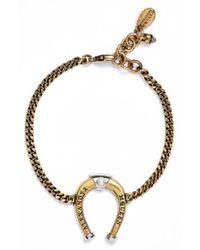 Alexander McQueen | Metallic Horseshoe Bracelet | Lyst