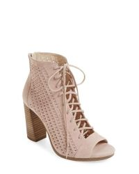 Vince Camuto | Multicolor Kevina Lace-up Open Toe Bootie | Lyst