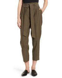 Trouvé | Green Tie Waist Cargo Pants | Lyst