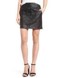 Trouvé | Black Faux Leather Skirt | Lyst