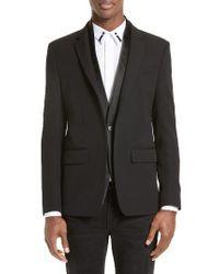 Givenchy   Black Satin Shawl Sport Coat for Men   Lyst