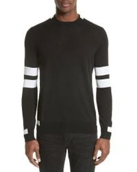 Givenchy | Black Wool Stripe Pullover for Men | Lyst
